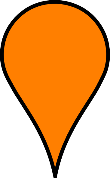 Google map pin icon png. Maps baby orange clip