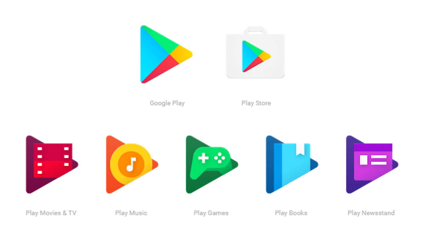 Google play store logo png. Makes tiny change to