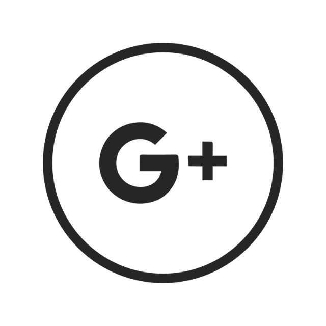 Google plus logo black and white png. Icon vector for free