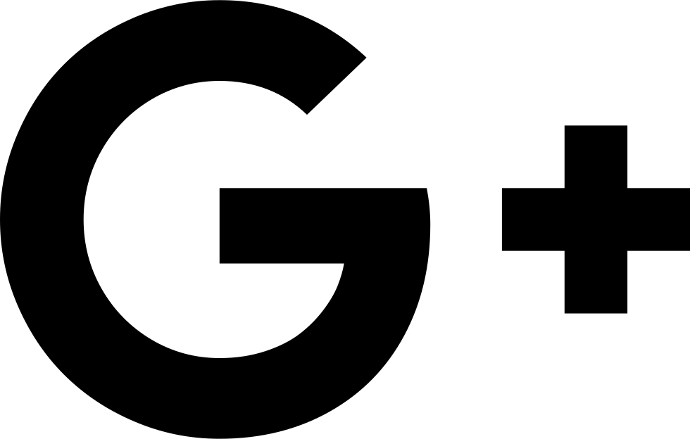 Google plus logo black and white png. Svg icon free download