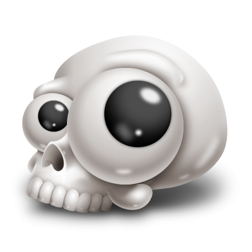 Googly eyes png. Funny skull with icon