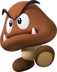 Goomba transparent stacked. Super mario wiki the