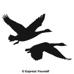 Goose clipart decal. Waterfowl auto and wall