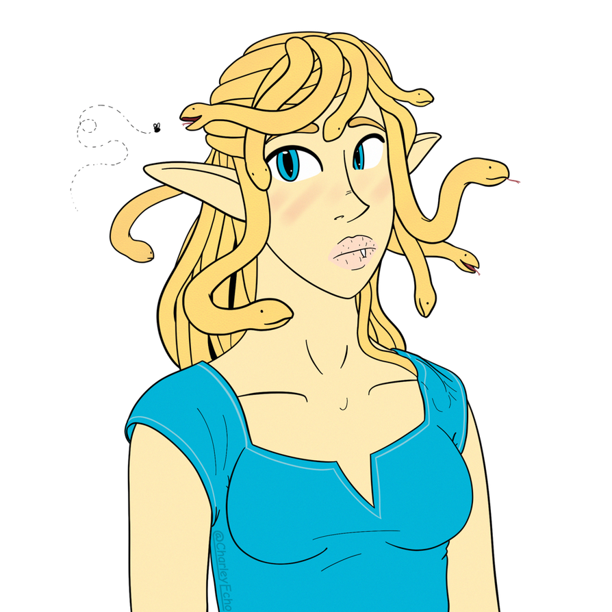Link linktober free draw. Gorgon drawing banner library stock