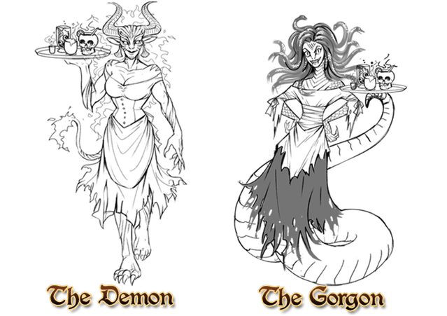 The red dragon inn. Gorgon drawing three image library