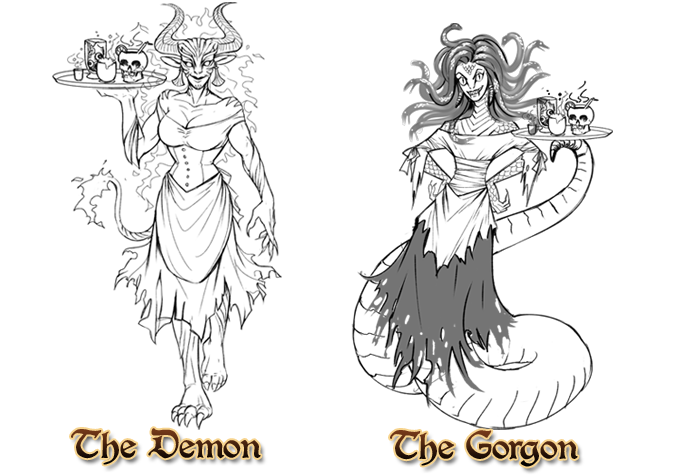 Vote on the wicked. Gorgon drawing png royalty free library