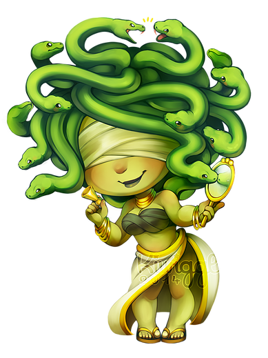 Gorgon drawing medusa dota 2. By kiwiggle golden harlequin