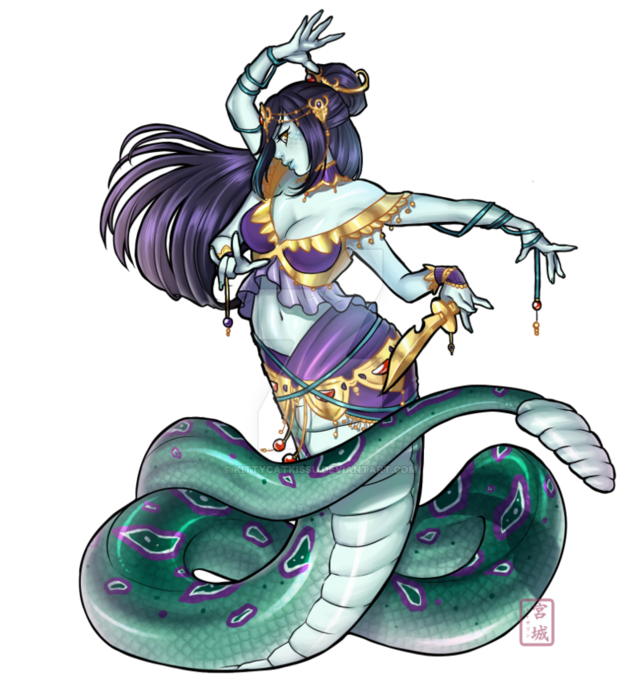 Naga drawing medusa dota 2. Marilith multi armed monster