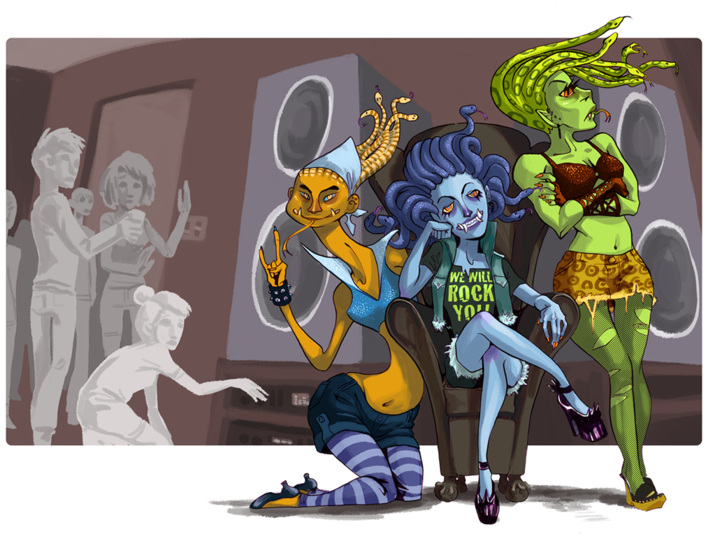 Gorgon drawing sisters. The by kenzij on