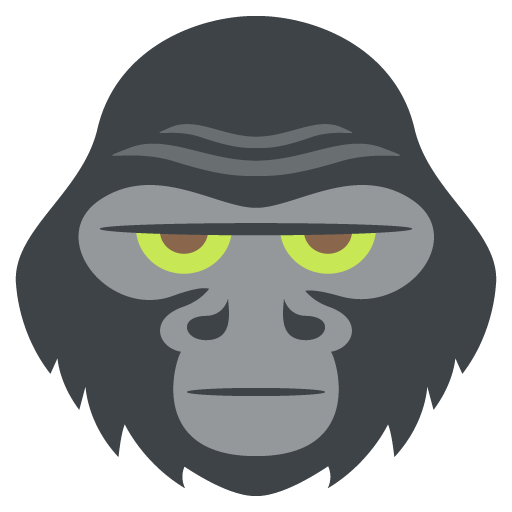 Silhouette png at getdrawings. Gorilla clip face graphic black and white stock