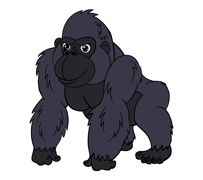 Gorilla cartoon png. Collection of drawings