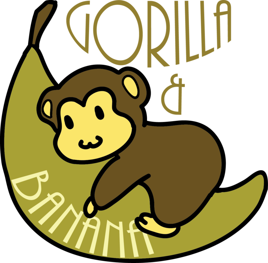 Gorilla clip banana clipart. And logo by cupcakemew