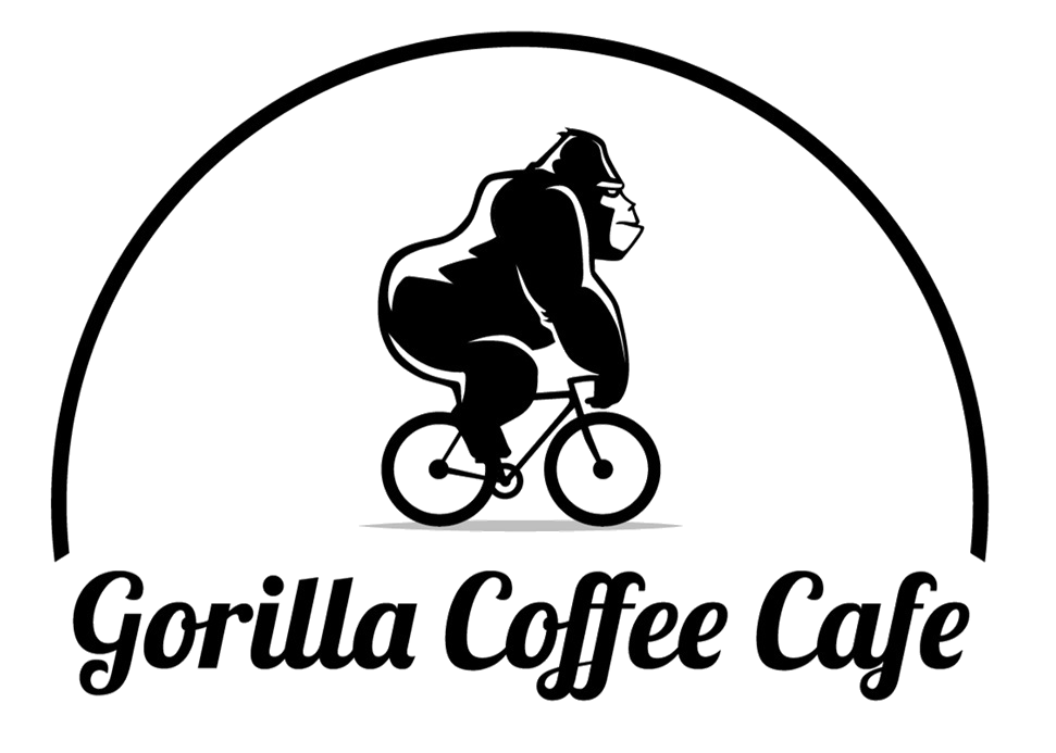 Drawing gorilla guerilla. Coffee cafe http