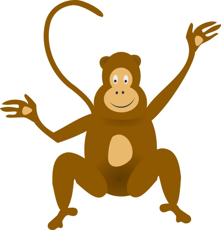 Gorilla clip monkey cartoon. Drawing free commercial clipart