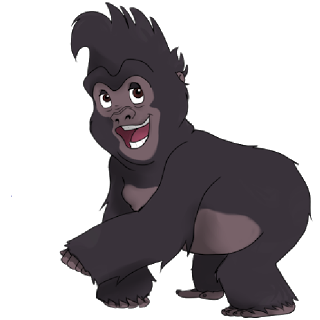 Gorilla clip cute. Baby clipart images gallery