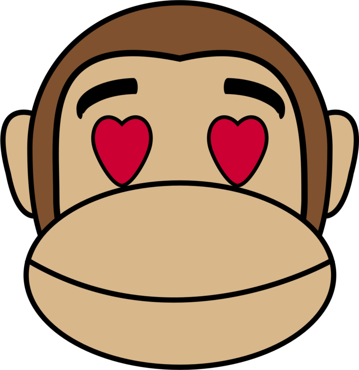 Gorilla clipart sad. Love monkey emotion emoji