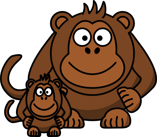Gorilla clipart sad. Cute at getdrawings com