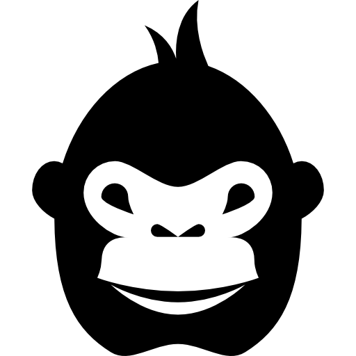 Gorilla face png. Free animals icons icon