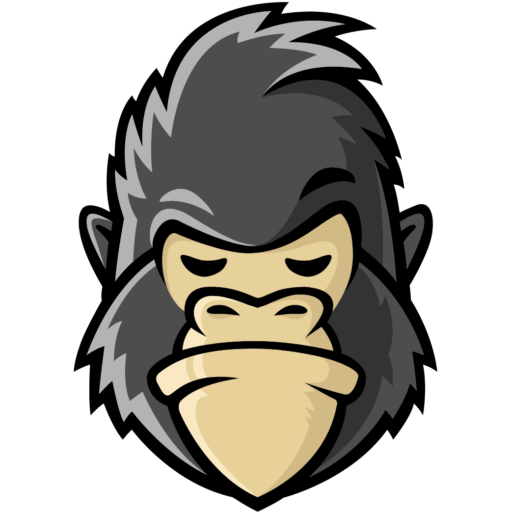 Gorilla face png. Cropped favicon gorillanetting com