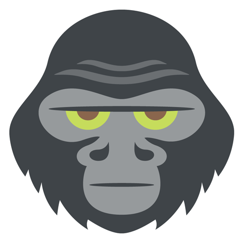 Gorilla face png. Image
