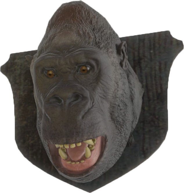 Gorilla head png. Image fo mounted fallout