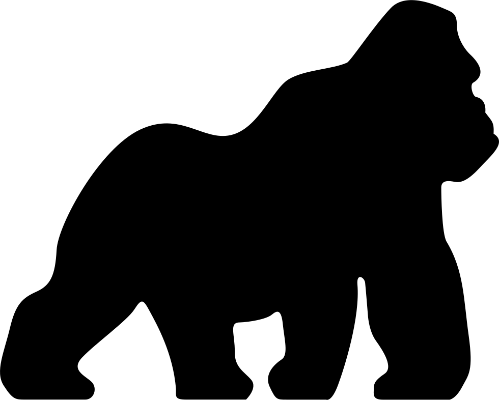 Vector gorilla. Silhouette at getdrawings com