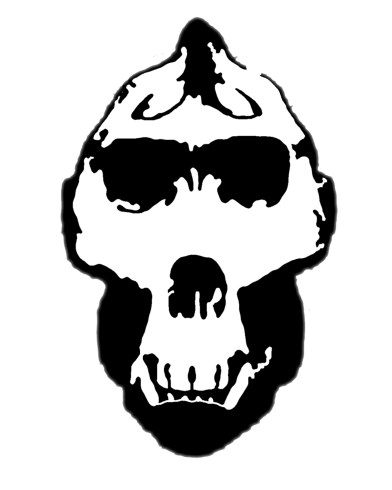 Gorilla skull png. Stencil by zimdrake on