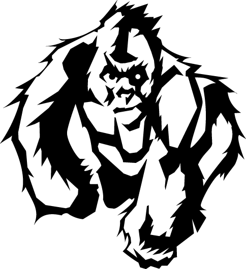 Vector gorilla. In the eps by