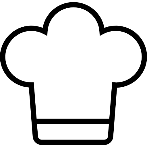 Gorro de chef png. Or cooker hat outline