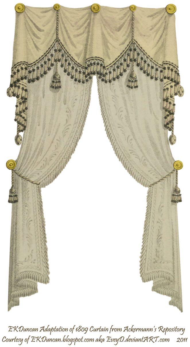 Goth curtains png. Fringe and tassel