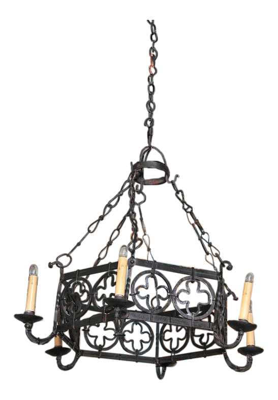Gothic chandelier png. Th century french