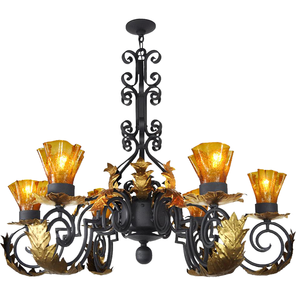 Gothic chandelier png. Style arm black iron