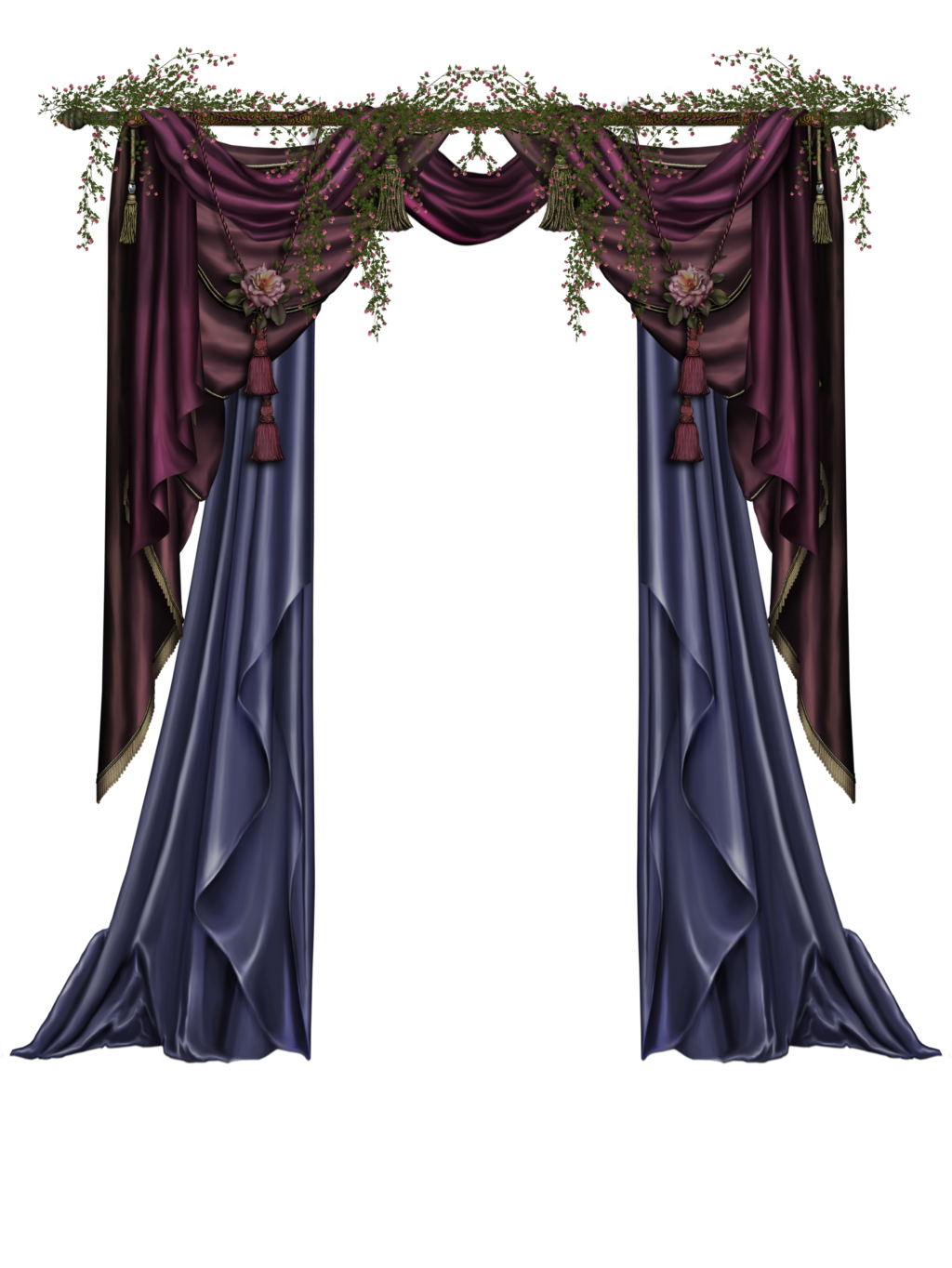 Gothic curtains png