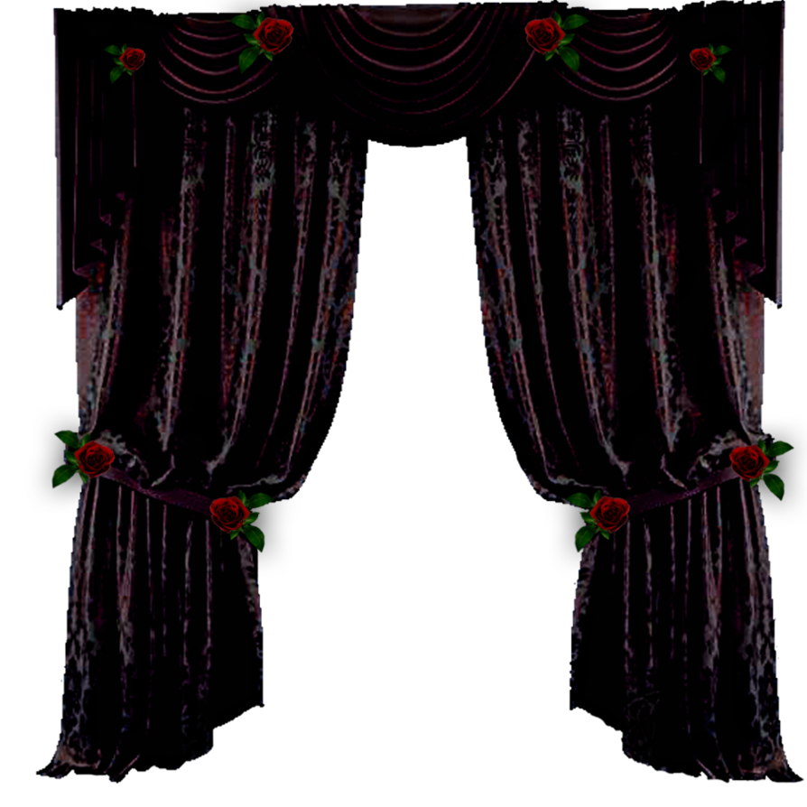 goth curtains png