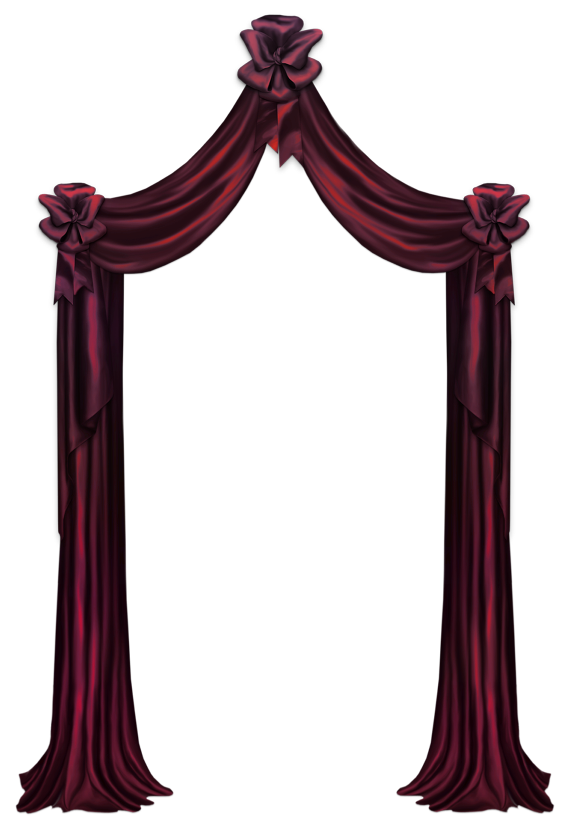 Gothic curtains png. Red curtain decor clipart