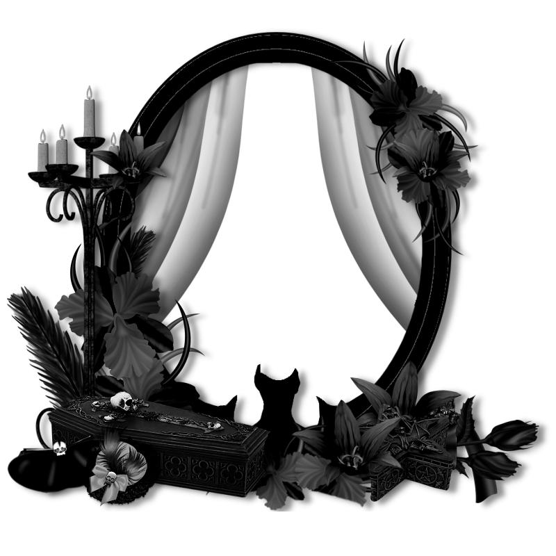 Gothic frame png. Cluster a goth bc