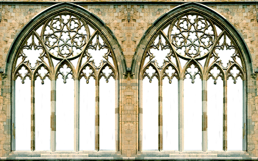 Gothic vector arch. Windows window arches by