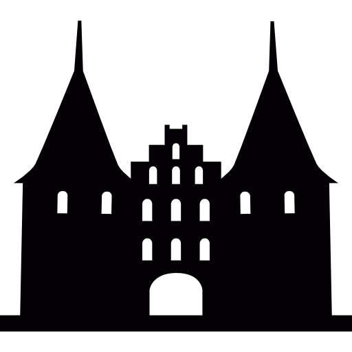 Signs vector medieval. Holsten gate gothic style
