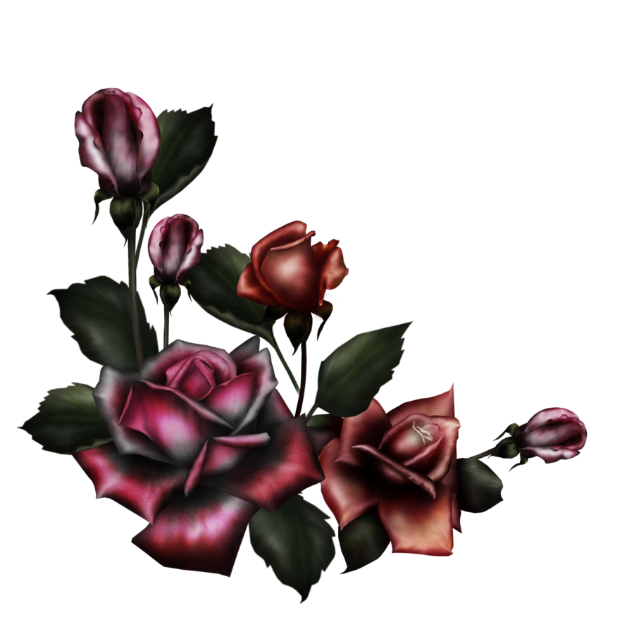 Gothic vector flower. By collect and creat