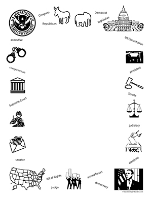 Government clipart government united states. Portrait blank teacher borders
