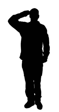 Government clipart silhouette. Patriotic soldier vector download