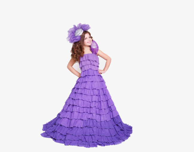 Gown clipart purple skirt. Happy girl smile png