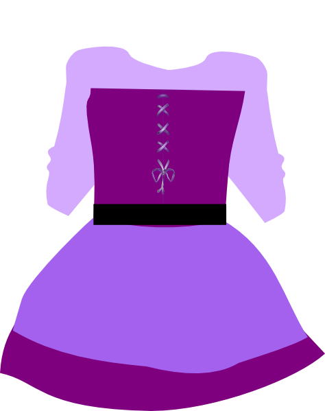 Gown clipart purple skirt. Princess dress at getdrawings