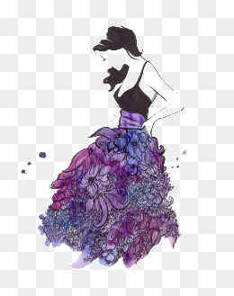 Gown clipart purple skirt. Png images vectors and