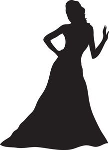 Gown clipart silhouette. Image woman cameo pinterest