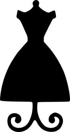 Gown clipart silhouette. Free of dresses black