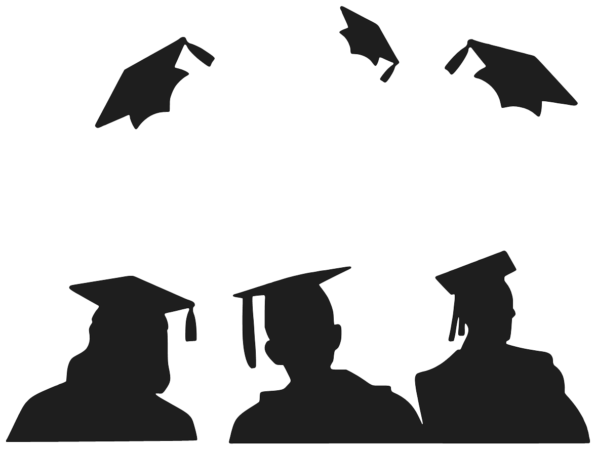 Graduation silhouette png. Free black cliparts download