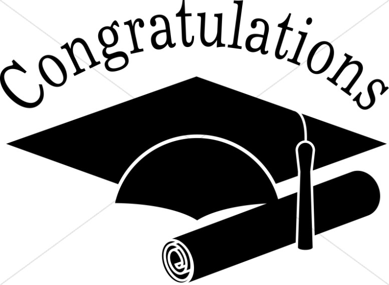 Graduate clipart. Congratulations grads black and