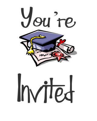 re invited clipart graduation