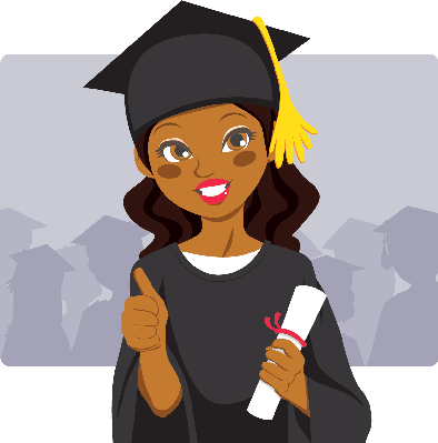 Grad clipart graduation theme. African american